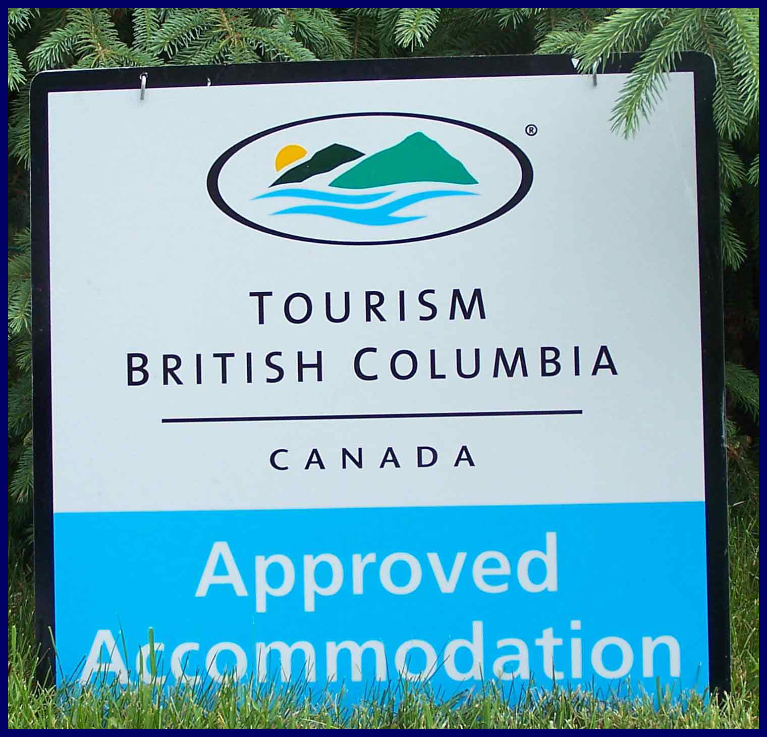Approved Tourism Accomodation BC sign